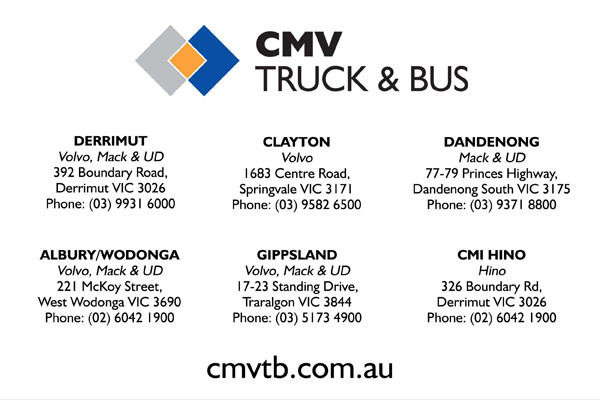 The HCVC wish to thank CMV for their sponsorship