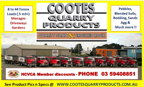 The HCVC thank Cootes Quarry Products for their Support