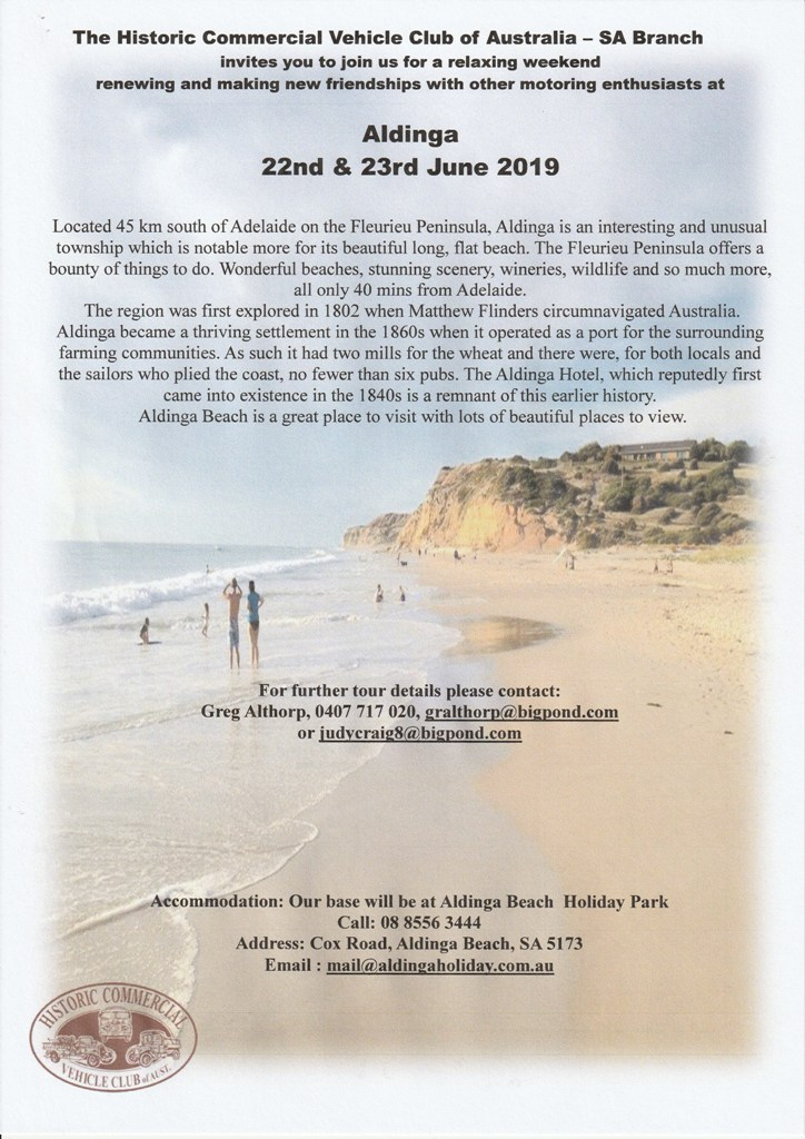 Aldinga Weekend Flyer
