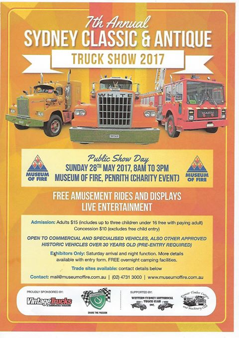Flyer of Sydney Classic and Antique Show for 2017