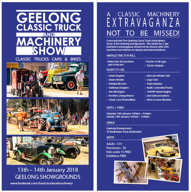 Image of Geelong Classic 2018 flyer.
