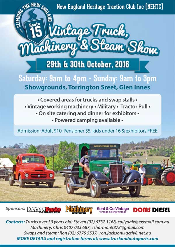 New England Flyer for Vintage truck Machinery and Steam Show