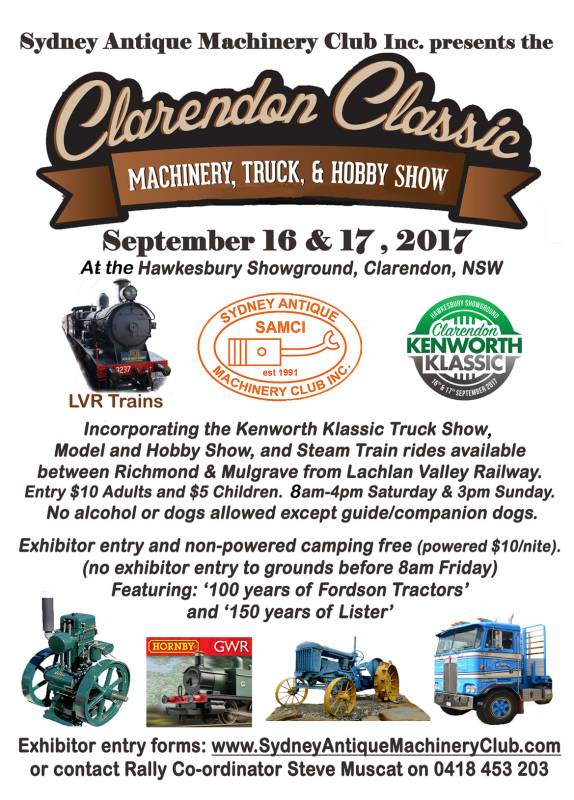 Clarendon Classic Kenworth Klassic Flyer Sept16and17