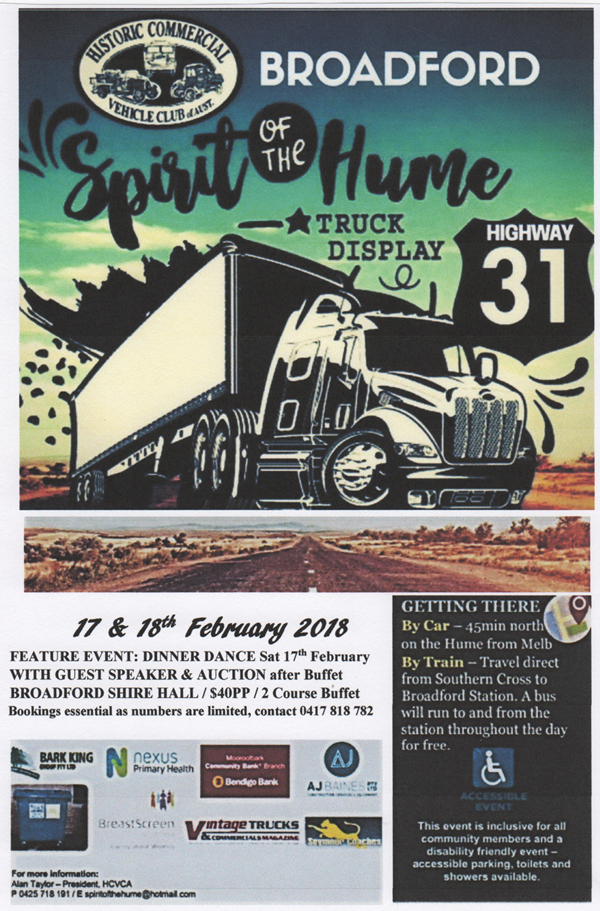Spirit of the Hume Truck Show