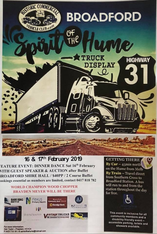 Spirit of the Hume Truck Show in Broadford Victoria