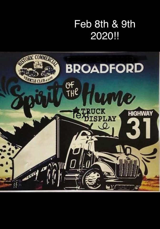 Spirit of the Hume Flyer for 2020