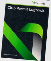 Vicroads Club Permit Log book